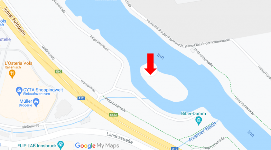 Ortsangabe Flusserlebnistag Völs